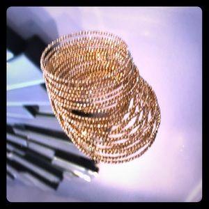 Gold wrap around bracelet